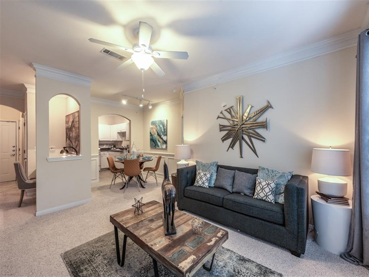 Large Living Room at The Circle at Hermann Park in Houston, Texas