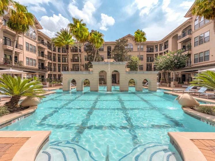 Pool Views at The Circle at Hermann Park in Houston, Texas