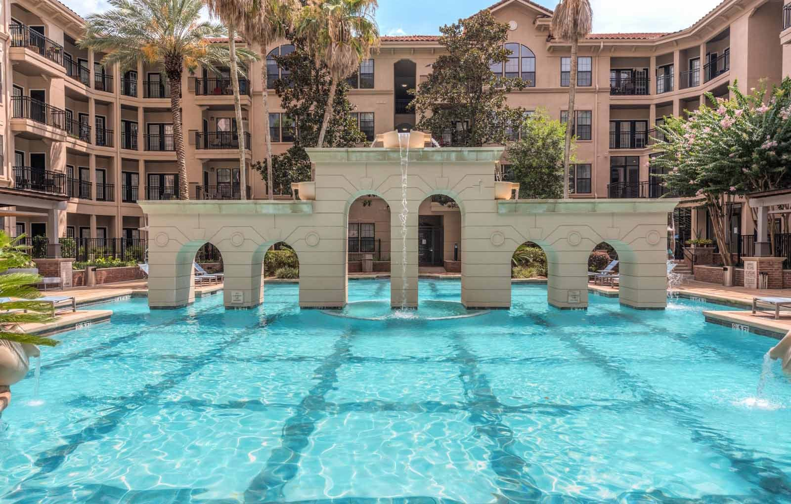 Resort-Style Pool at The Circle at Hermann Park in Houston, Texas