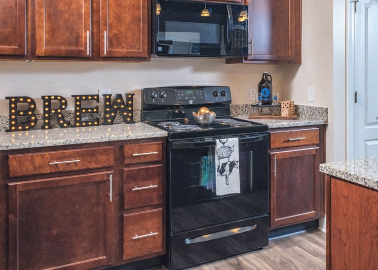Black Appliances at Abberly at Southpoint Apartment Homes by HHHunt, Fredericksburg, 22407