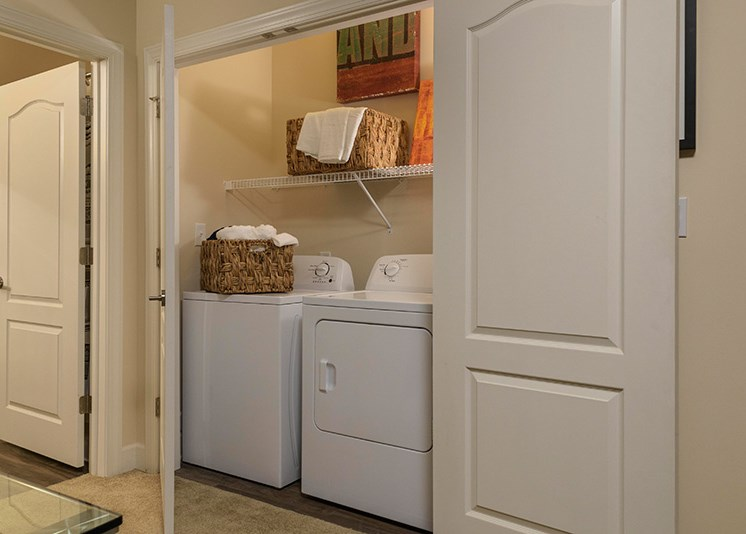 Washer and Dryer in Every Apartment Home at Abberly at Southpoint Apartment Homes by HHHunt, Fredericksburg, Virginia