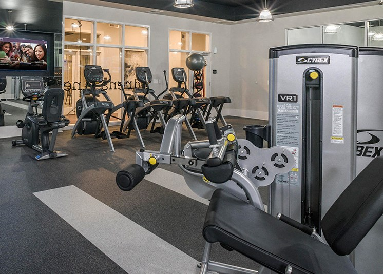 State-of-the-Art Fitness Center at Abberly at Southpoint Apartment Homes by HHHunt, Fredericksburg