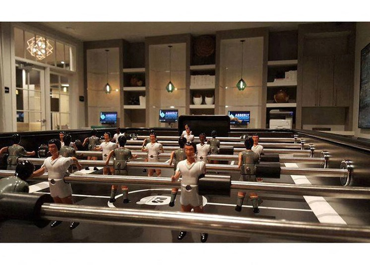 Foosball Social Lounge at Abberly at Southpoint Apartment Homes by HHHunt, Fredericksburg, Virginia