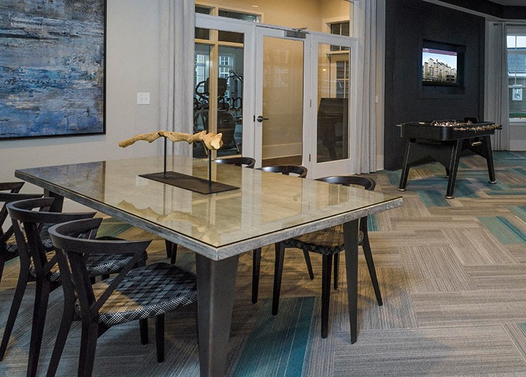 Game Room with Foosball Table at Abberly at Southpoint Apartment Homes by HHHunt, Virginia