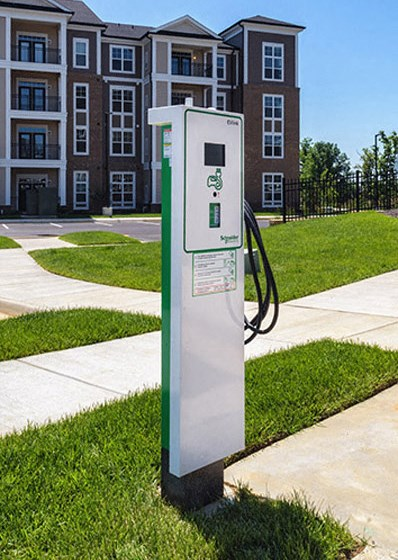 Car Charging Stations at Abberly at Southpoint Apartment Homes by HHHunt, Fredericksburg
