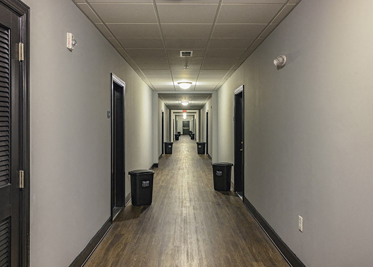 Controlled Access Buildings with Conditioned, Interior Hallways at Abberly at Southpoint Apartment Homes by HHHunt, Virginia