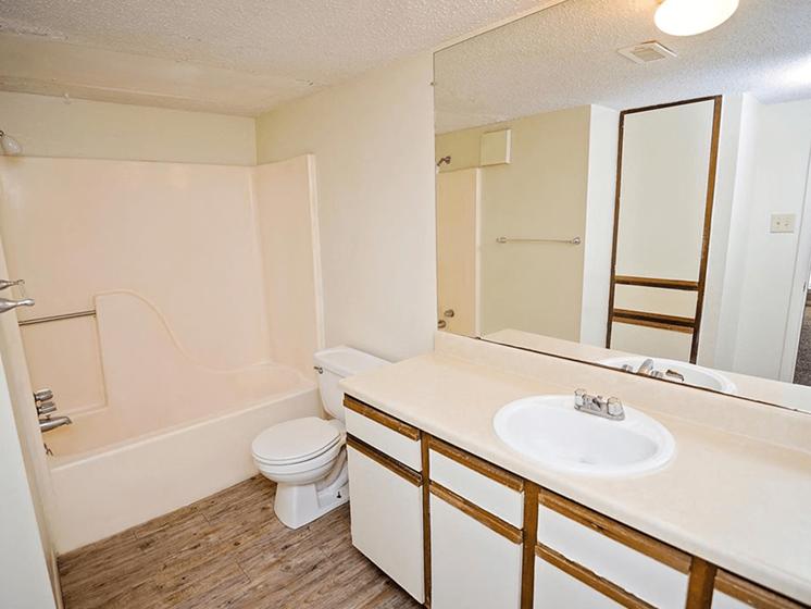 bathroom at Pecan Grove Apartments