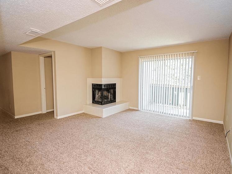 Living room in Alexandria apartment