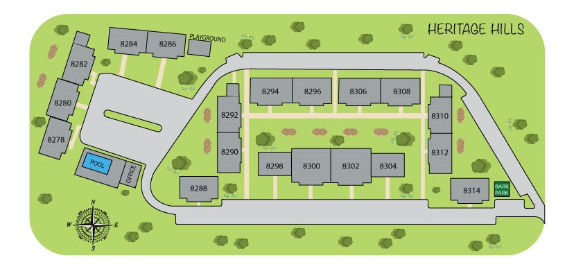 Sitemap at Heritage Hill Estates Apartments