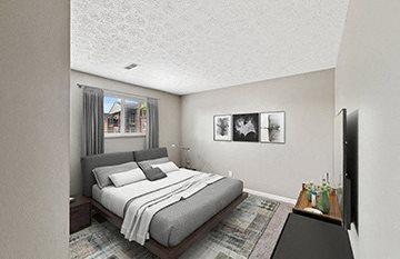 Comfortable Bedroom at Heritage Hill Estates Apartments, 8288 Wooster Pike Cincinnati, 45227