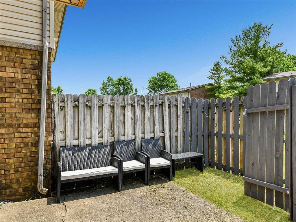 Fenced Backyard at Westpark Townhomes, Indianapolis