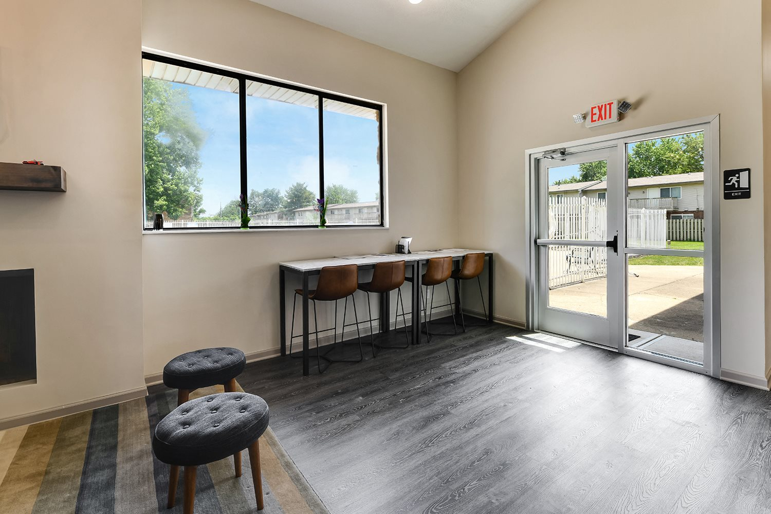 Demonstration Kitchen In Clubhouse at Westpark Townhomes, Indianapolis, IN, 46214