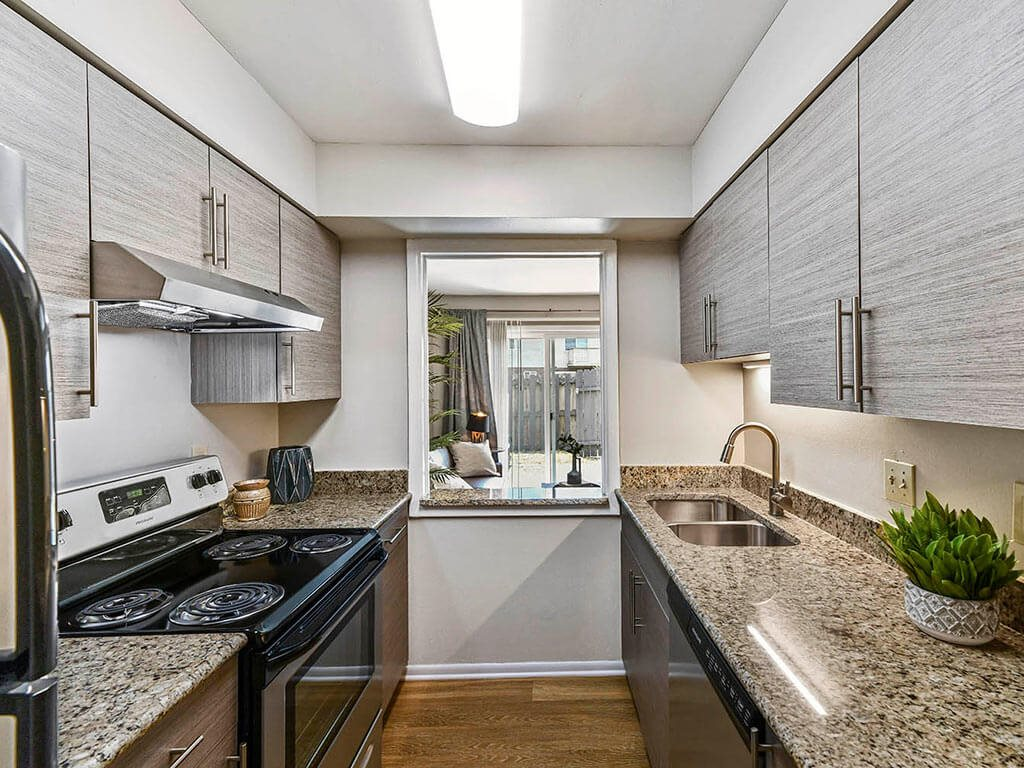 Furnished Kitchen at Westpark Townhomes, Indianapolis, IN