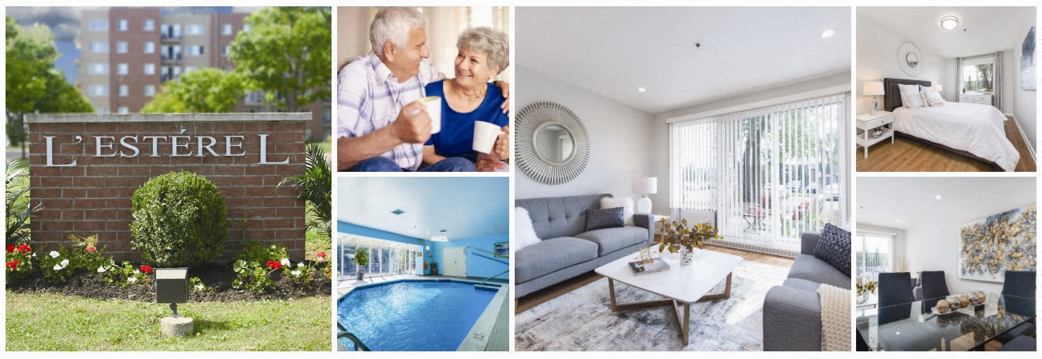 collage of suite and amenities