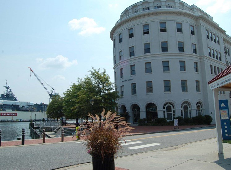 The Seaboard Building in Portsmouth VA exterior