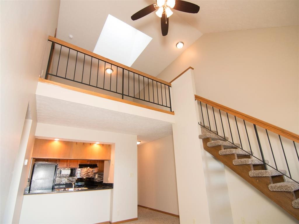 interior shot looking up at the loft space at Fountain Glen Apartments in Lincoln Nebraska