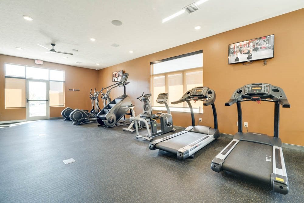 Tread mills and stair climbers at North Pointe Villas apartments in northwest Lincoln NE
