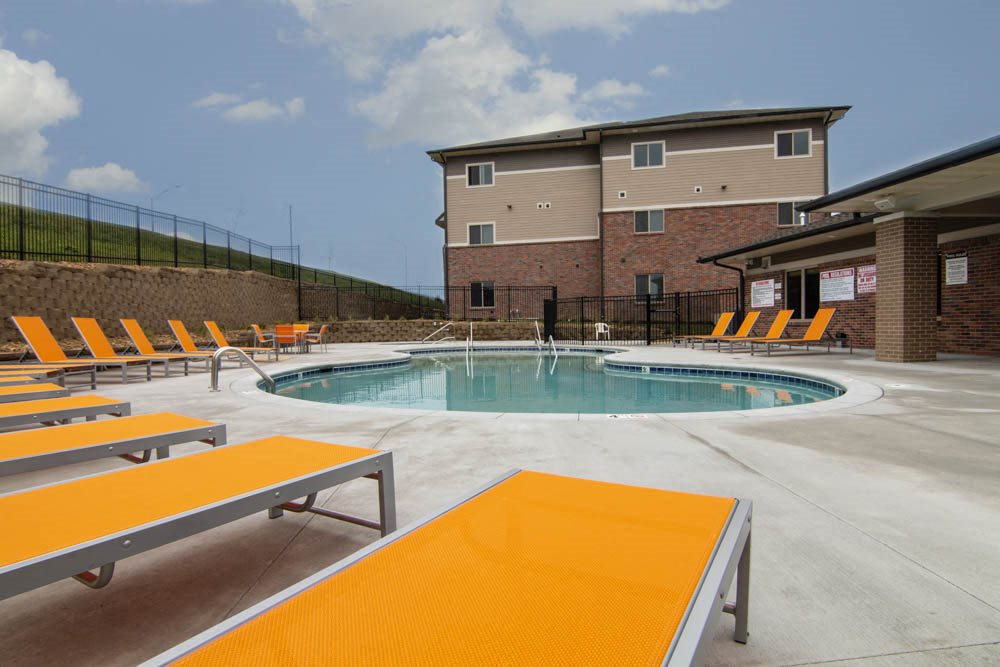 New pool at North Pointe Villas luxury apartments and townhomes in north Lincoln NE