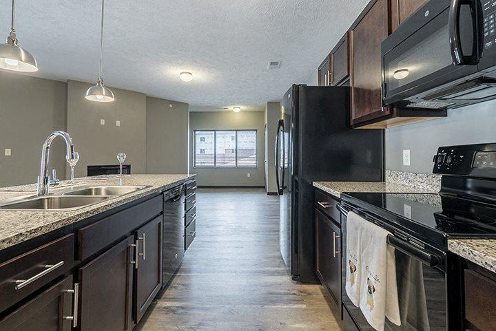 Large kitchen with lots of cabinets at North Pointe Villas