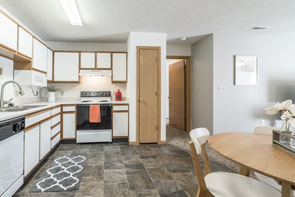 Kitchen with dishwasher at Northridge Heights in north Lincoln