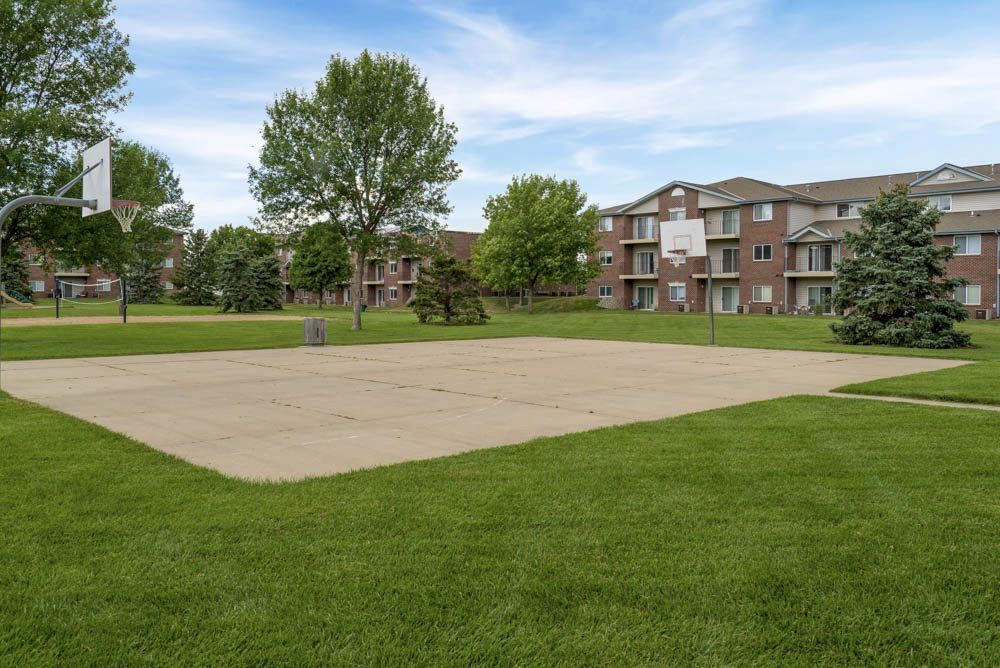 Basketball court at Northridge Heights Apartments in north Lincoln