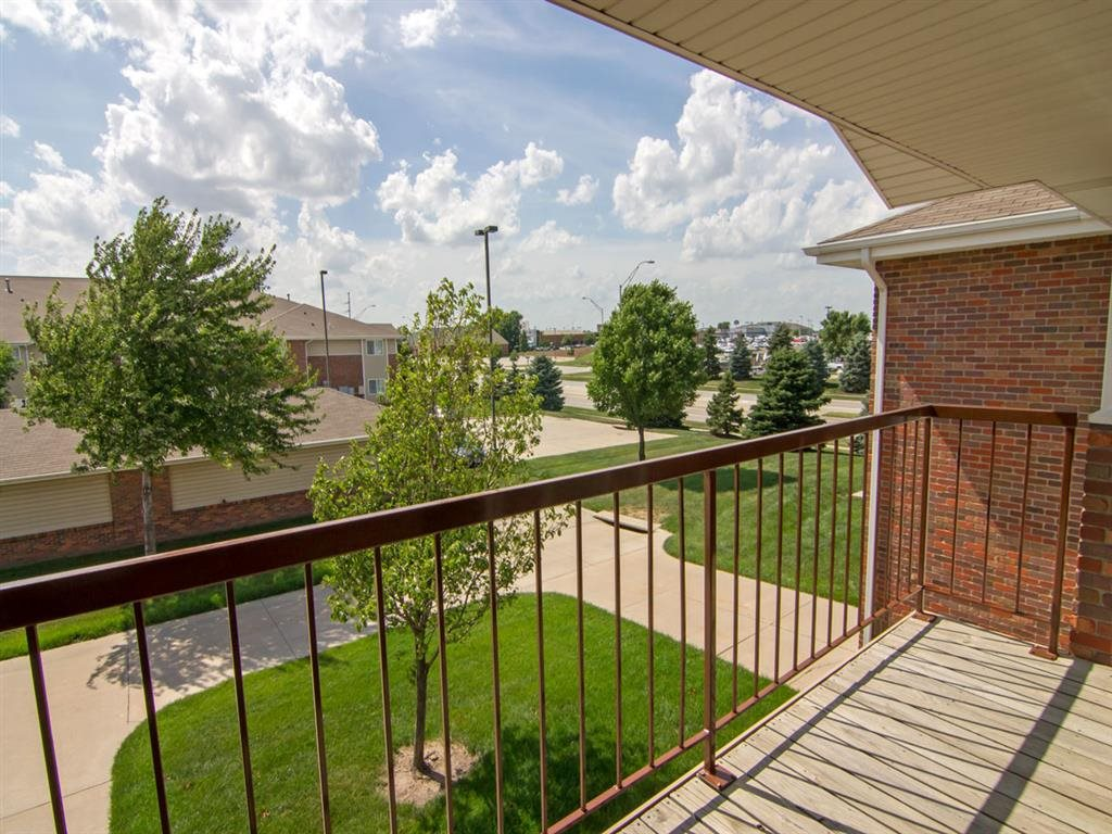 Private Balcony View at The Northbrook Apartment Homes, Lincoln, NE,68504