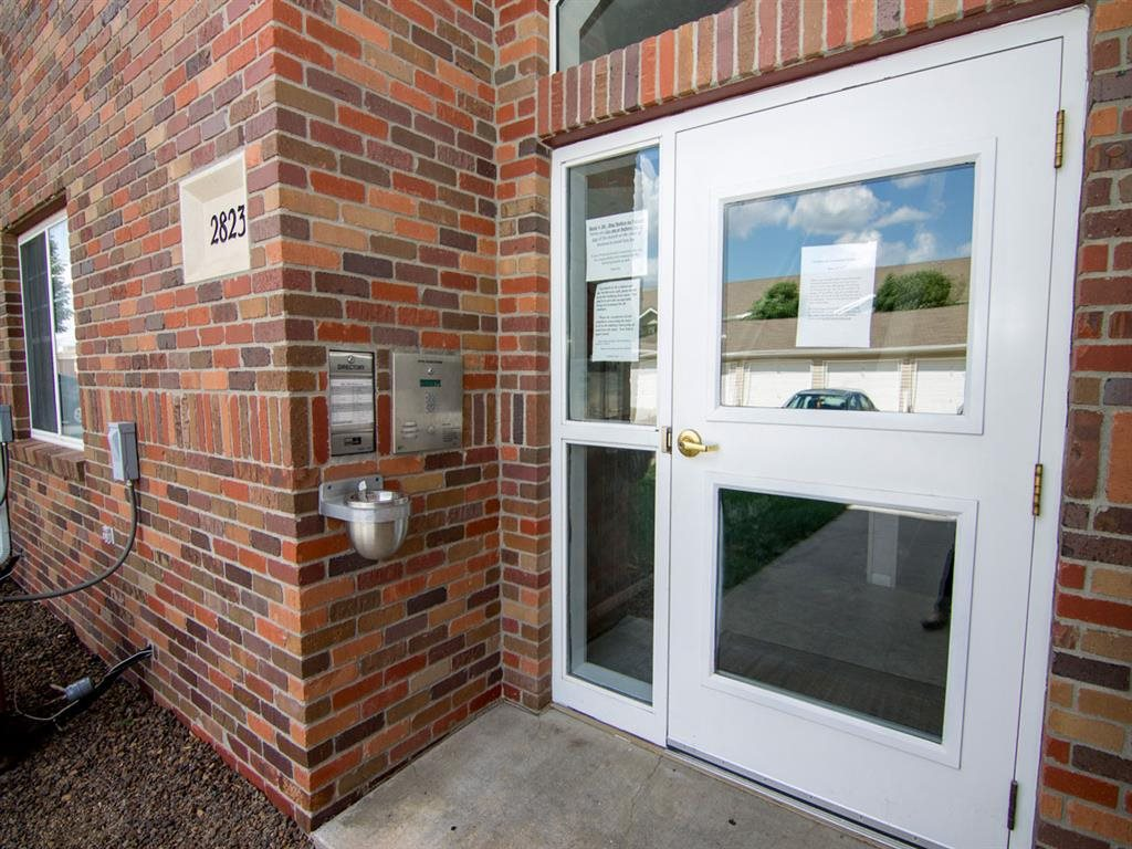 Controlled intercom resident entrance at The Northbrook Apartment Homes, Lincoln NE