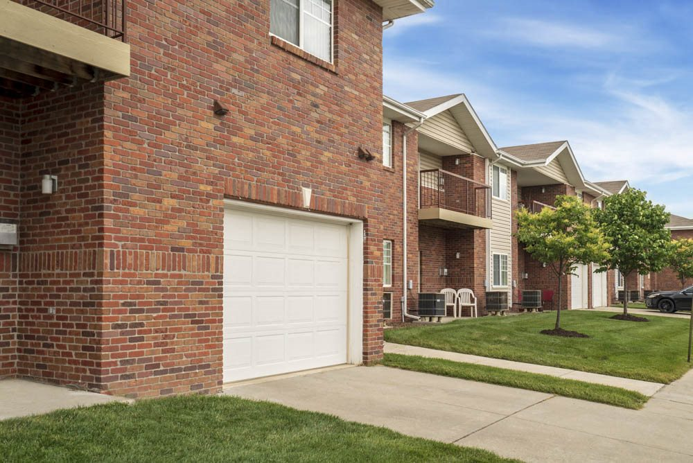 Apartment home with attached garage at The Northbrook Apartments in Lincoln, NE