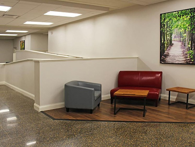 Posh Resident Lounge at Residences at Leader, Cleveland, 44114
