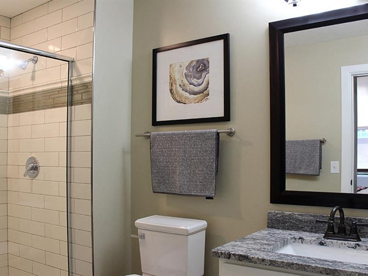 Luxurious Bathrooms at Residences at Leader, Cleveland, Ohio