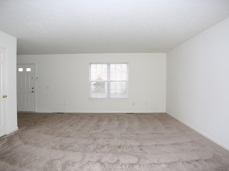 Large Bright Living Room at Stone Hedge Village Townhouses, Farmington, NY