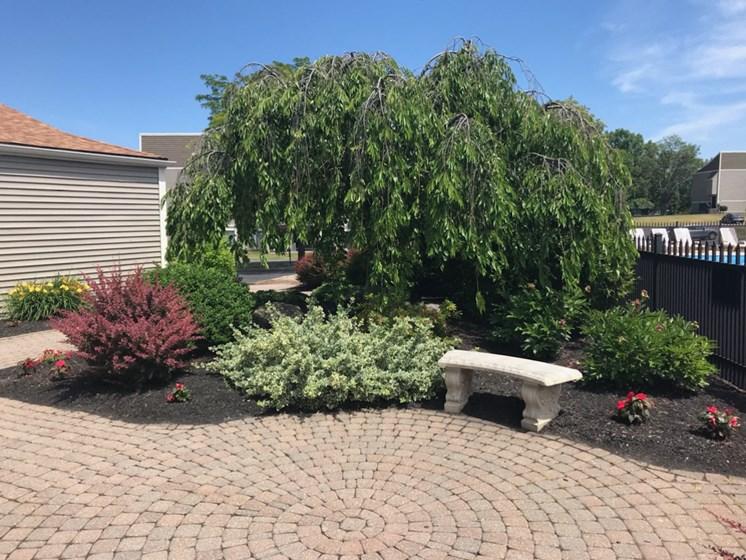 Outside Garden at Whitney Ridge Apartments, Rochester, NY