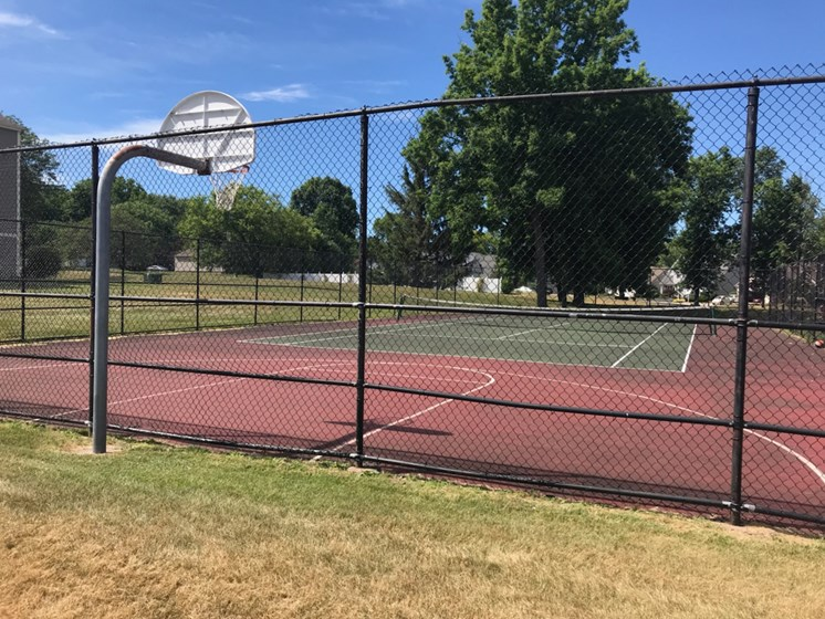 Large Basketball and Tennis Court at Whitney Ridge Apartments, Rochester, NY