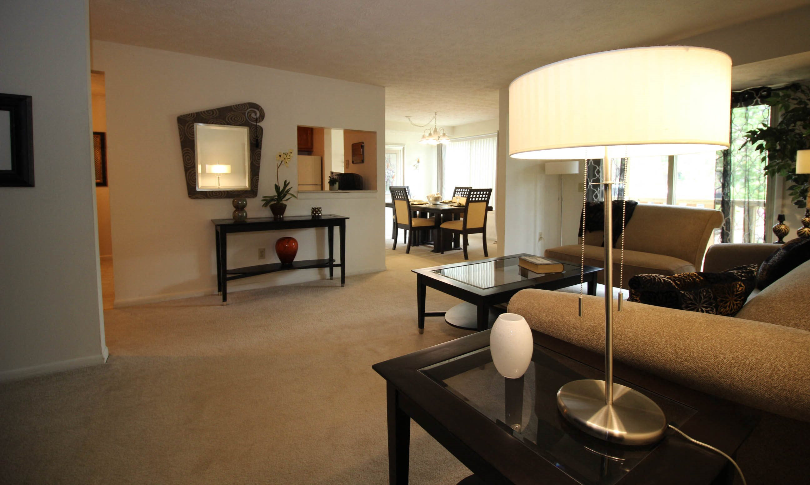 Spacious Modern Living Room at Whitney Ridge Apartments, Rochester, NY