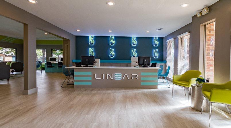 Spacious Reception Area at Linear, Dallas, TX, 75240