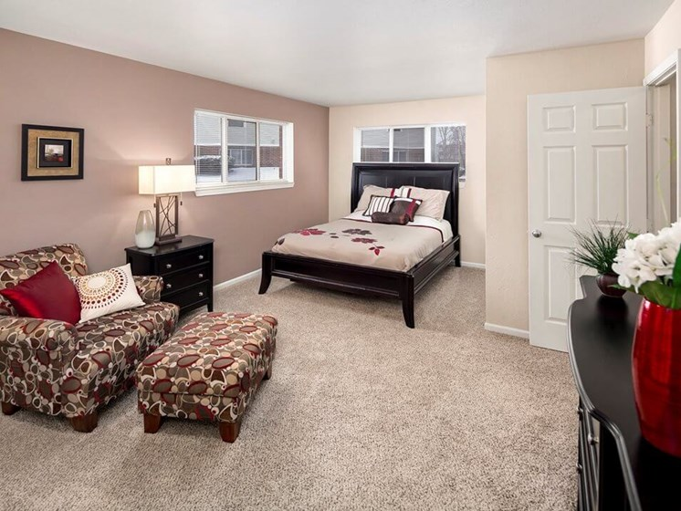 large master bedroom at Howell MI apartments