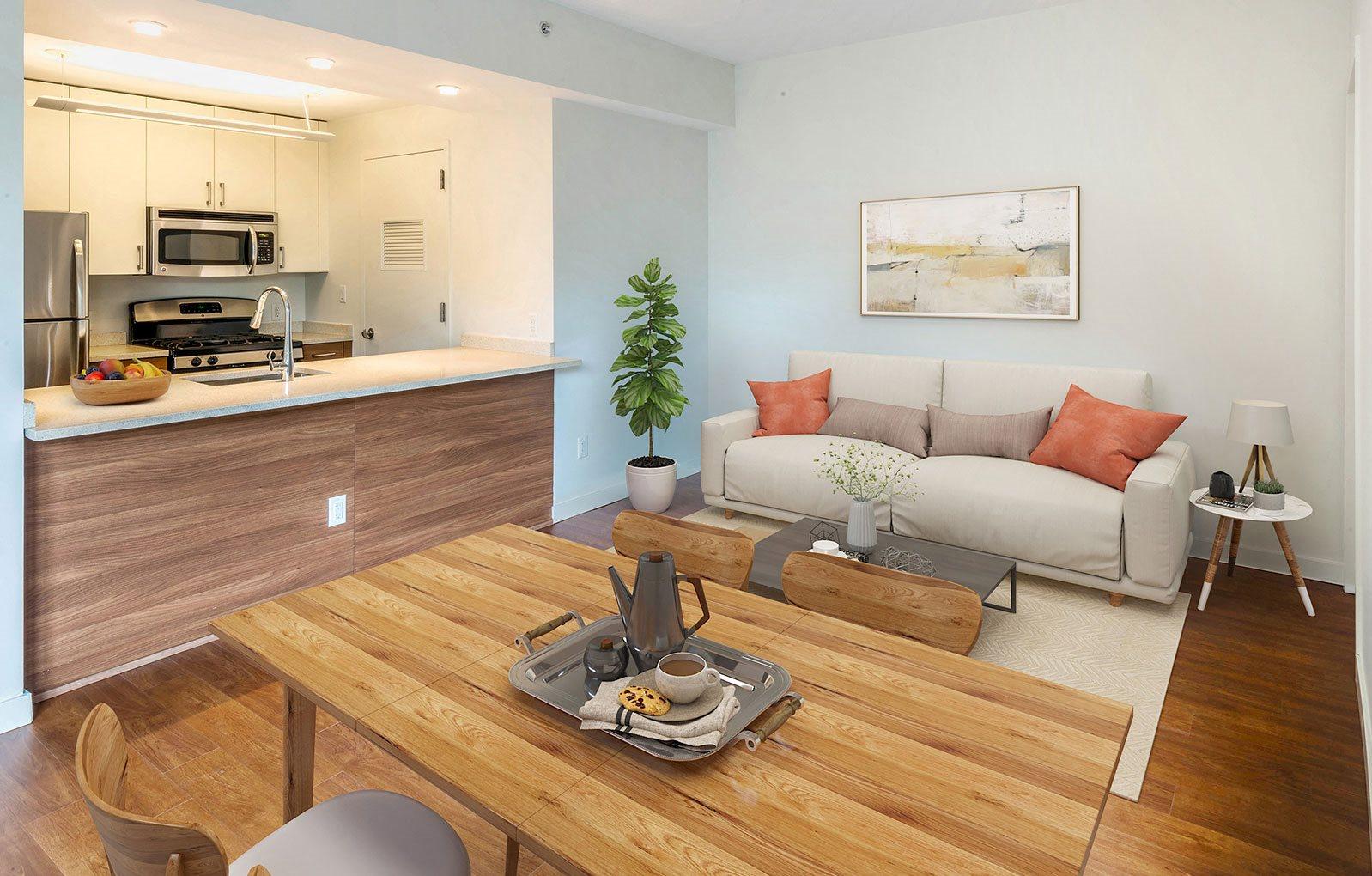 Open Concept Floor Plans at 544 Union, Williamsburg, New York, 11211