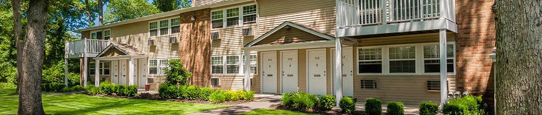Exteriors at Pinewood Village, Coram, NY
