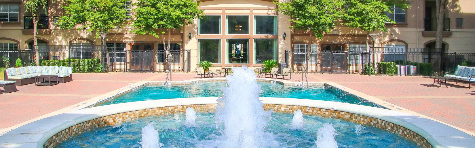 Fountain and pool at 7900 at Park Central