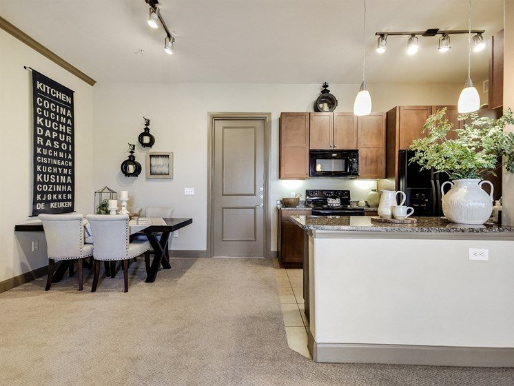 Dining Area at 3500 Westlake Apartments in Austin, TX