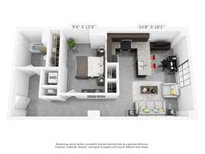 1 bedroom luxury apartment home in Winston Salem