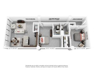 2 bedroom luxury apartment home in Winston Salem