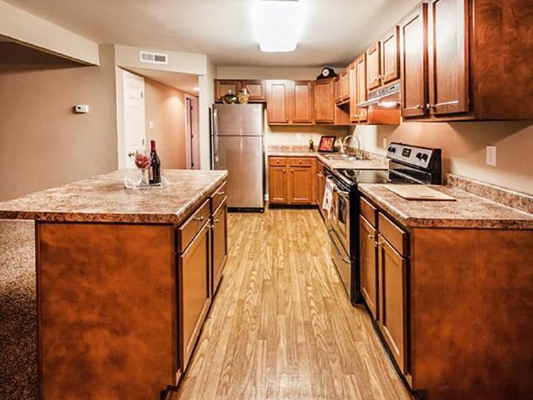 big apartment kitchen