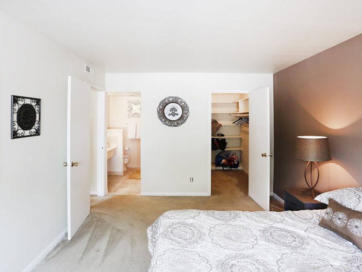 Primary Bedroom with Bathroom and Closet