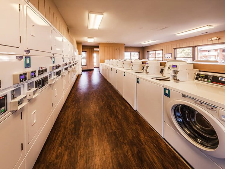 apartments with laundry center