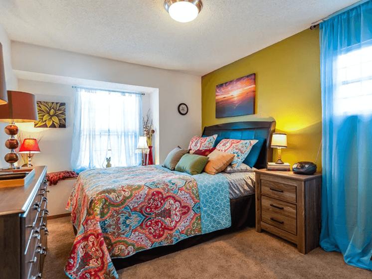 Bedroom at The Retreat at Woodridge Apartments