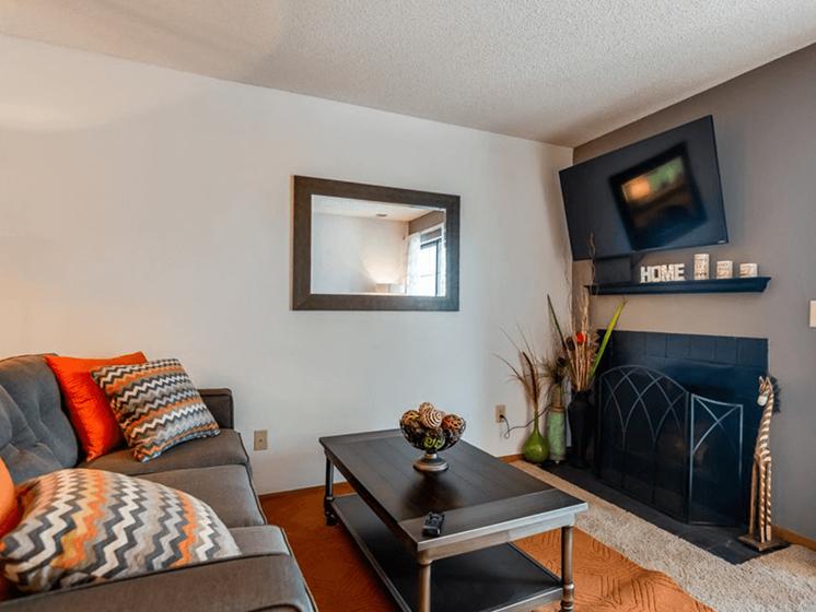 Lenexa KS Apartments with fireplace