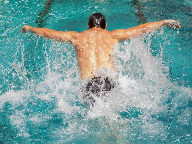 Swimmer in Lap Pool