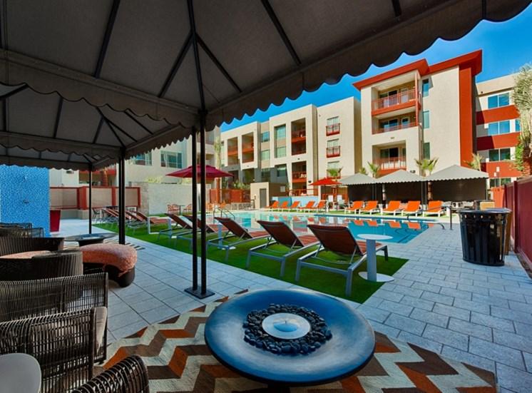 cabanas at resort pool