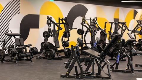Gym at The Malcomson, Detroit, MI, 48226